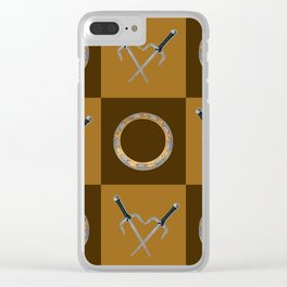 Xena Color Block Clear iPhone Case