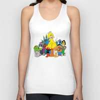sesame street Tank Tops featuring Sesame Street Stoners by Instrum
