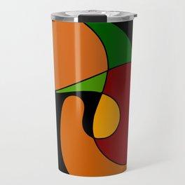 Earth tone abstract Travel Mug