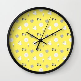 Greg Pattern Wall Clock