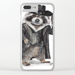 Raccoon Bandit Clear iPhone Case