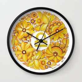 Libra in Petrykivka style (with signature) Wall Clock