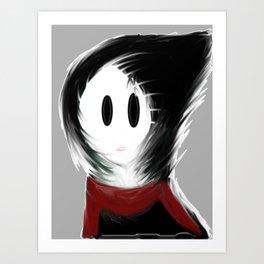 Gloomy Girl Art Print