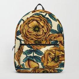 Golden Yellow Roses - A Vintage-Inspired Floral/Botanical Pattern Backpack