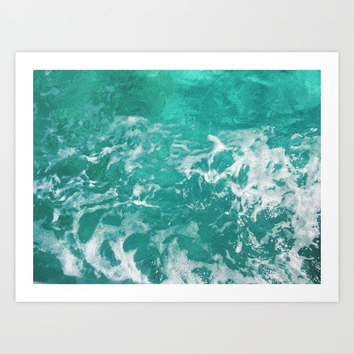 Bavaro Beach ocean waves Art Print