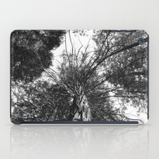 black and white forest iPad Case