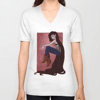 marceline V-neck T-shirts featuring Marceline by Persefone