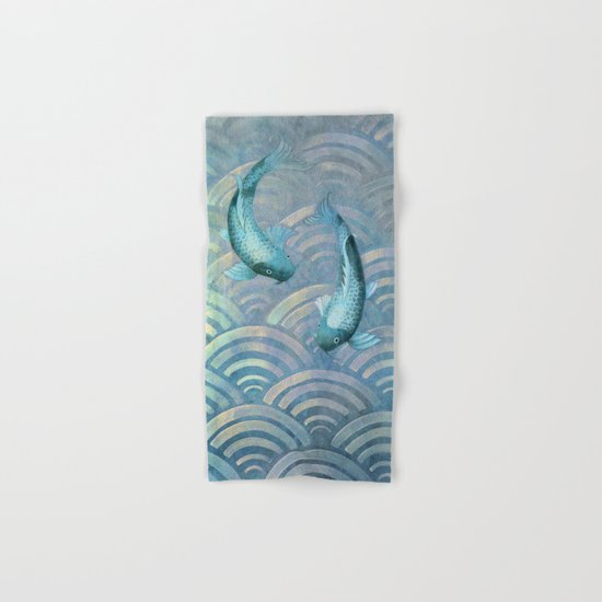 Koi fish Hand & Bath Towel