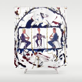 MOZART:  Divertimento for three Basset Horns     by Kay Lipton Shower Curtain