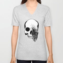 Skull (Distortion) Unisex V-Neck