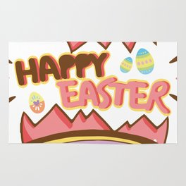 Easter Egg Hunt Happy Easter Cute Kids Women Men Gifts Rug