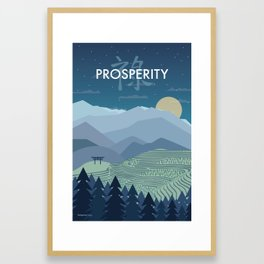 Prosperity Night Framed Art Print