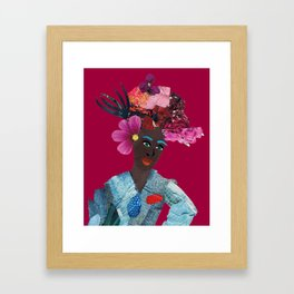 Antonia red Framed Art Print