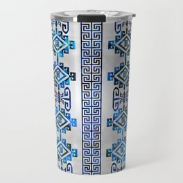 Greek Key Ornament Travel Mug