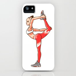 """Yoga girl CoolNoodle and """"Hot LAVA"""" iPhone Case"""