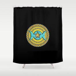 Triple Moon Symbol. Shower Curtain