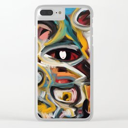 Eye of the Storm Art Expressionism Abstract Clear iPhone Case
