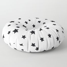 Black and White Stars Floor Pillow