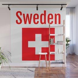 Sweden - Swiss Flag Wall Mural