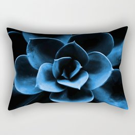 Dark Blue Succulent Plant #decor #society6 #homedecor Rectangular Pillow