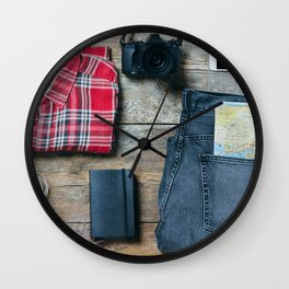 Get ready for the trip. Man edition Wall Clock