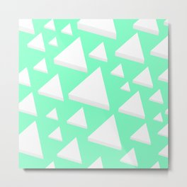 White Triangles Metal Print