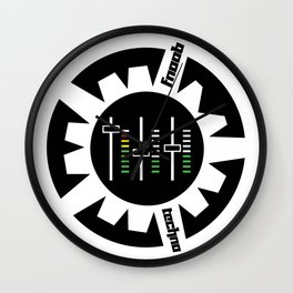 FNOOB Techno 3.0 logo Wall Clock