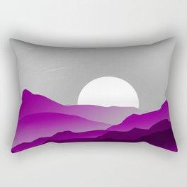 Asexual Pride Sunrise Landscape Rectangular Pillow
