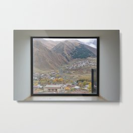 View of Mount Kazbegi, Georgia Metal Print