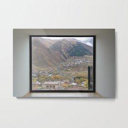 View of Mount Kazbegi, Georgia Metal Print