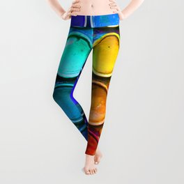 Watercolor Art Palette Leggings