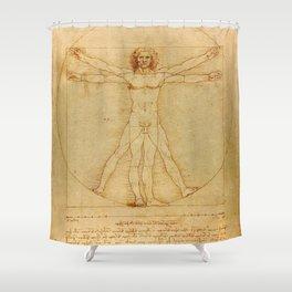 Leonardo da Vinci, Vitruvian Man Shower Curtain
