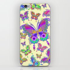 Butterfly Colorful Tattoo Style Pattern iPhone & iPod Skin