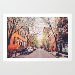 New York City - Springtime in the West Village Art Print