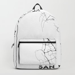Minimal City Maps - Map Of San Diego, California, United States Backpack