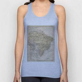 Vintage Map of Brazil (1889) Unisex Tank Top