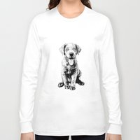 puppy Long Sleeve T-shirts featuring Puppy by Molly Morren