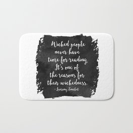 Wicked People (Watercolour) Bath Mat