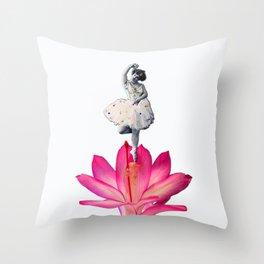 FLOWER DANCER Throw Pillow