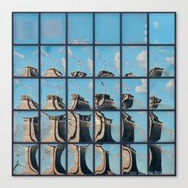 Ney York City - Brooklyn Bridge Reflection Canvas Print