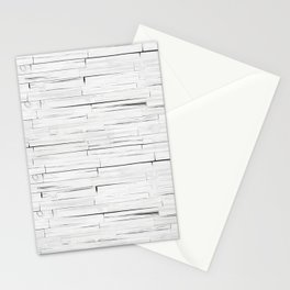 White Wooden Planks Wall Stationery Cards