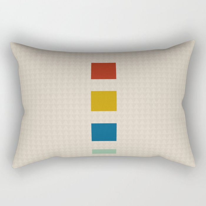 four elements || tweed & primary colors Rectangular Pillow