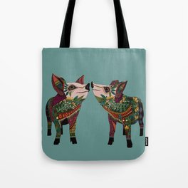 pig love jade Tote Bag