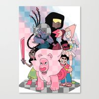 steven universe Canvas Prints featuring Steven Universe by Laura Pulido