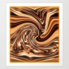 Copper Twist Art Print