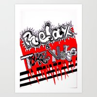 Relax & Take Notes Art Print