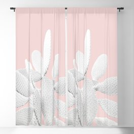 White Blush Cactus #1 #plant #decor #art #society6 Blackout Curtain