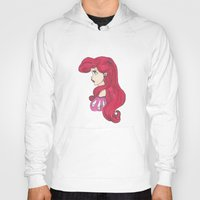 ariel Hoodies featuring Ariel.  by Nic Moore