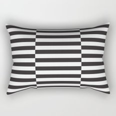 IKEA STOCKHOLM Rug Pattern - black stripe black Rectangular Pillow