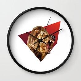 Low Poly Bear Wall Clock